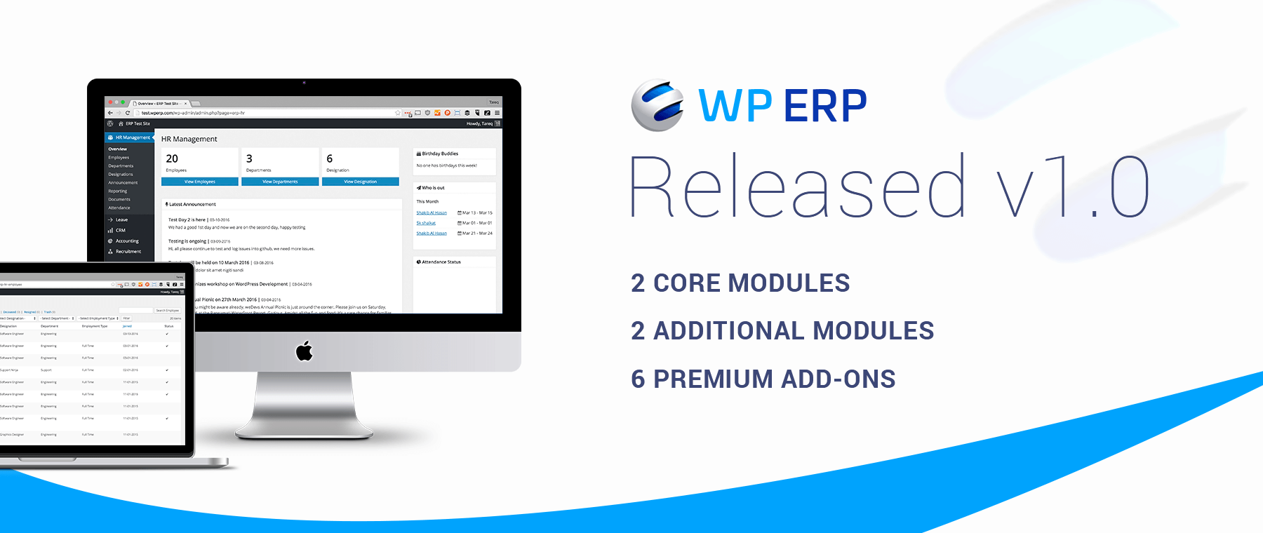 WP ERP Version 1 0 Released!