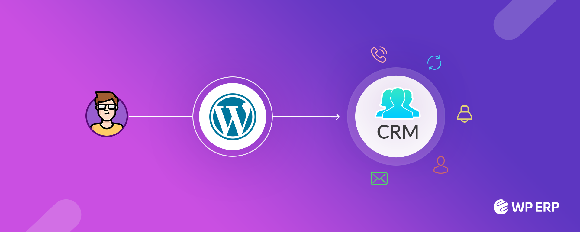 WP ERP Turns your WordPress site into a simple CRM for free