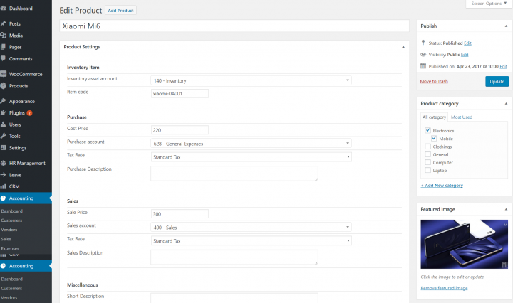 wperp accounting inventory edit procut new Order and Inventory Management - Intelprise