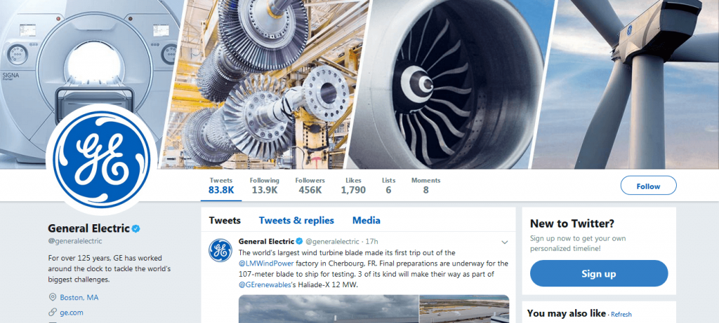 General Electric makes sure how to use Twitter perfectly