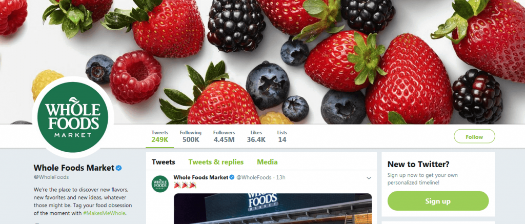 Whole Foods is properly using Twitter for their business