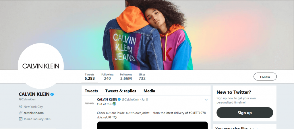 Calvin Klein ensures the best use of Twitter