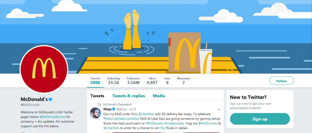 McDonald's prefers Twitter for digital marketing