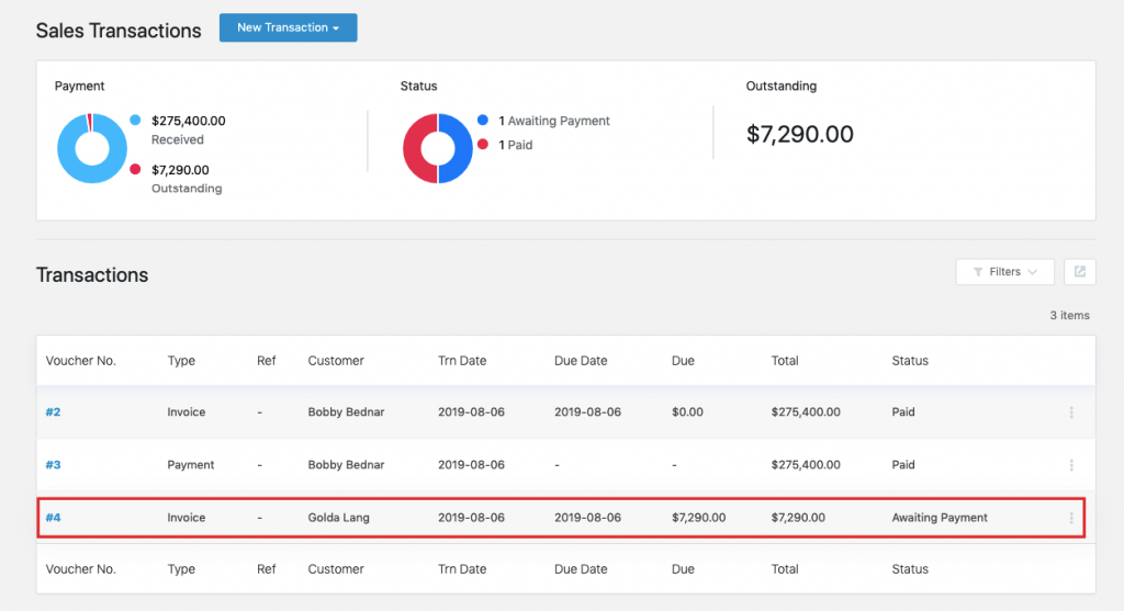 Sales invoice with WP ERP Accounting