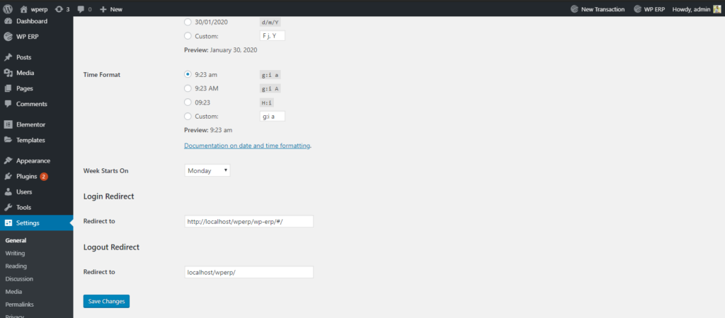 Customizing Log in and Logout page
