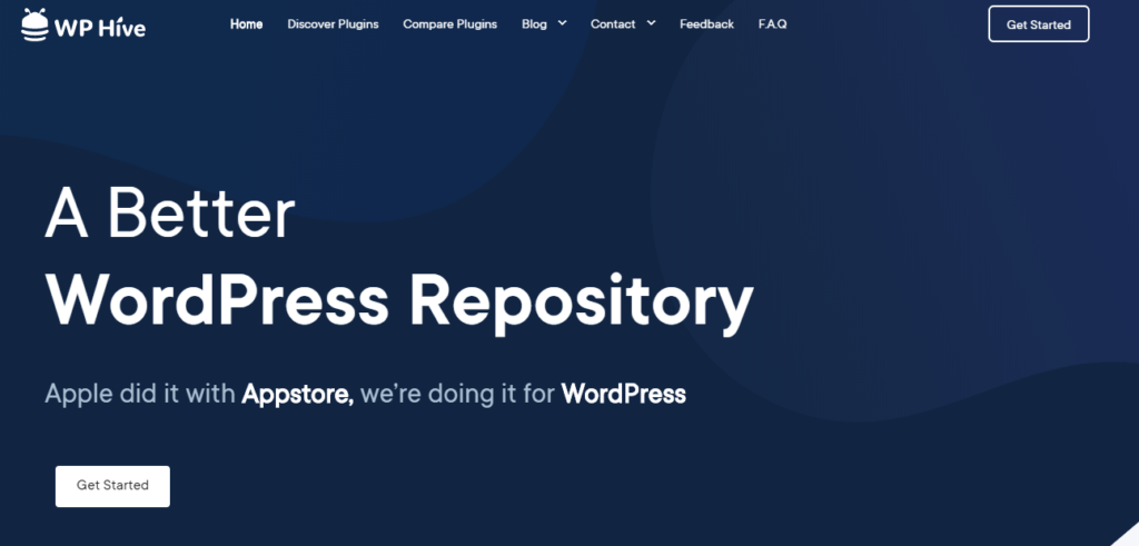 WP Hive Home Page- wordpress repository