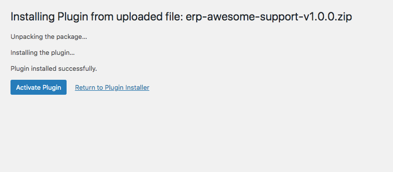 Install WP ERP Awesome Support Sync