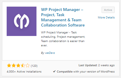 Activate WP Project Manager