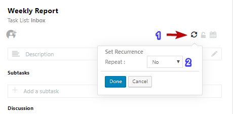How to cancel a recurring task after scheduling