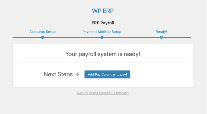 add calender to payroll user guide