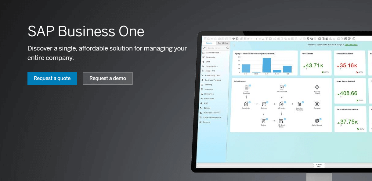 SAP Business One the smart ERP solution