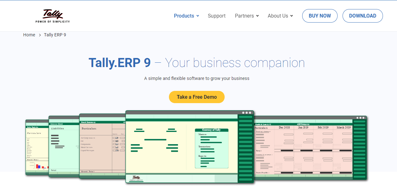Easy ERP solution for everyone Tally.ERP 9