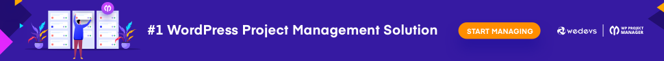 WP Project Manager Banner ad
